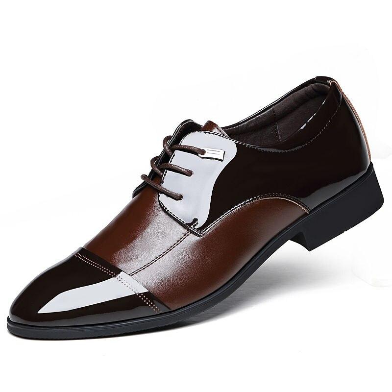 c8578eb965 Novo 2016 homens sapatos de moda homem sapatos de couro Sapato masculino  Lace Up Oxfords Flats sapatos sociais em Apartamentos das mulheres de  Sapatos no ...