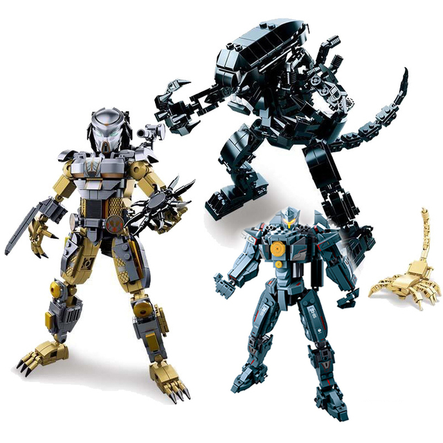 Mech Aliens Vs Predator Movie Figures Building Blocks Brick Toys For Children Christmas Gifts Compatible With Legoings Friends