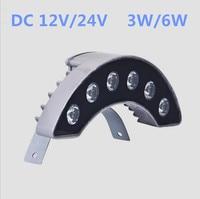 10 teile/los 3 Watt 6 Watt DC12V/24 V Fliesen Licht Dach Landschaft Licht LED Im Freien wasserdichte IP66 Kurve well Lampe Crescent Lampe