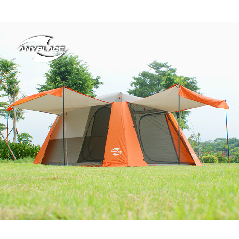 2016new 3 4people family camping tent automatic tent one bedroom one
