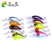 Купить с кэшбэком HENGJIA 10pc 14g Fishing Lures Shallow Deep Diving Swimbait Crankbait Fishing Wobblers Multi Jointed Hard Baits for Bass Trout