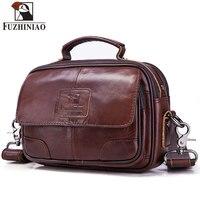 FUZHINIAO Genuine Leather Travel Messenger Bag Men's Shoulder Bag Fashion High Quality Crossbody Small Zipper Male Clutch Sling