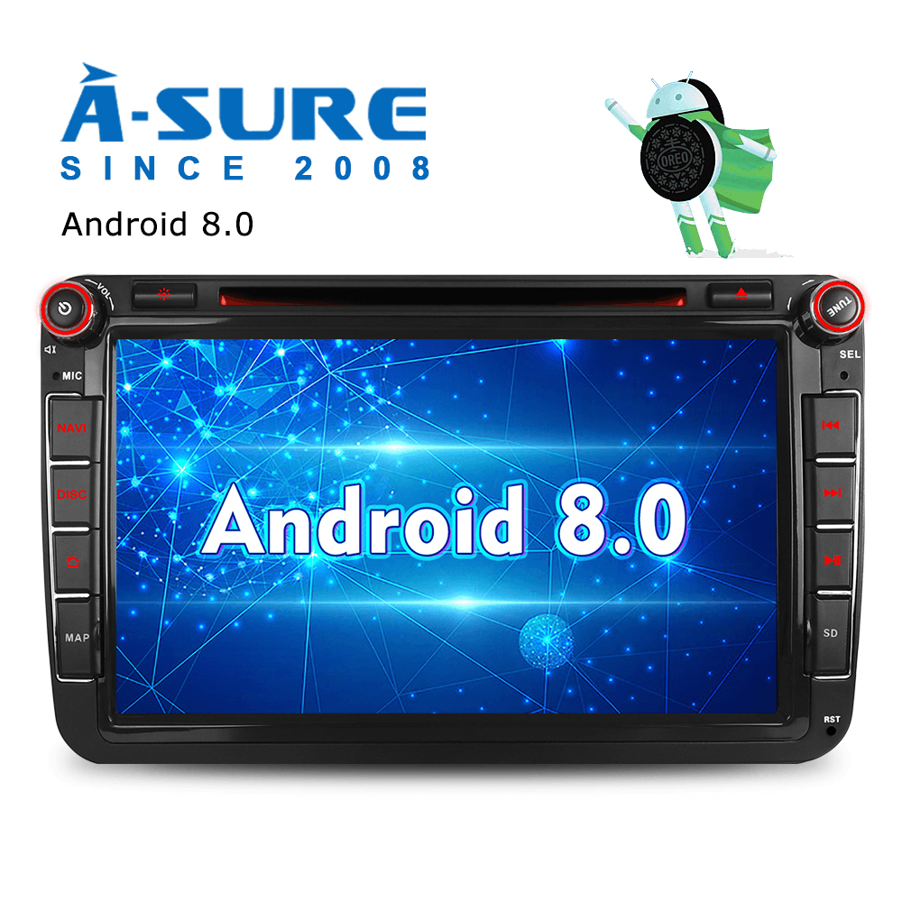 small resolution of a com certeza 8 android 8 0 jogador do carro dvd para volkswagen vw passat