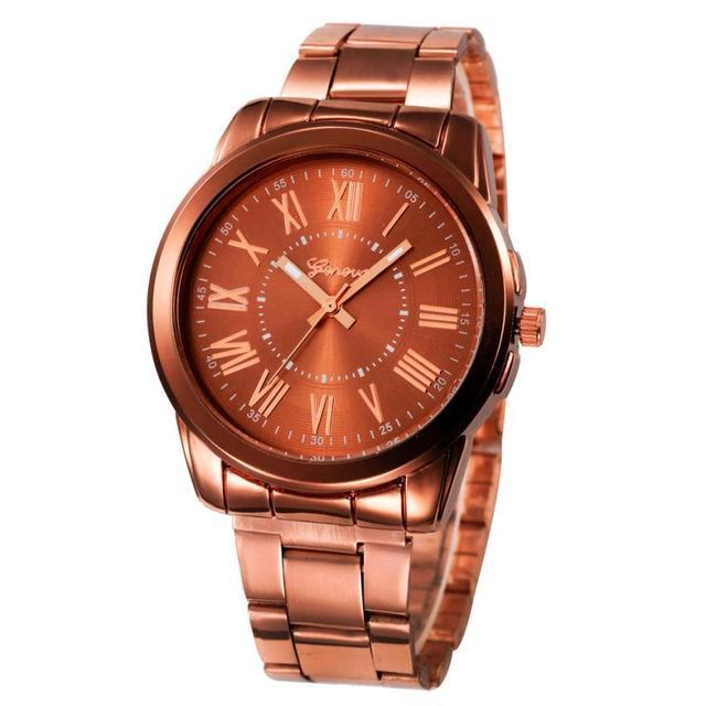 Fashion Women Men Simple Stainless Steel Analog Quartz Wrist Watch men stainless