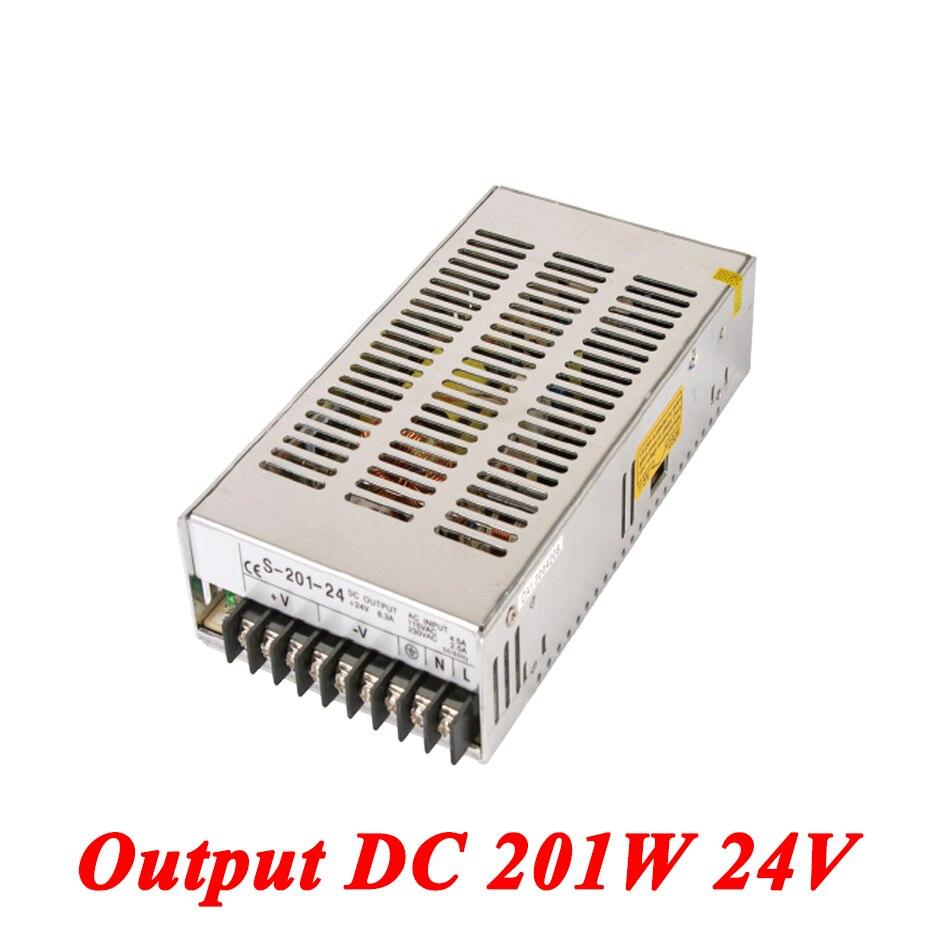 S-201-24 Switching Power Supply 201W 24v 8A,Single Output Ac Dc Converter For Led Strip,AC110V/220V Transformer To DC 24V 1200w 48v adjustable 220v input single output switching power supply for led strip light ac to dc
