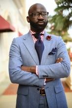 Latest Coat Pant Designs Light Blue Formal Custom Made Jacket Wedding Suits For Men Groom Slim Fit 2 Pieces Ternos 512