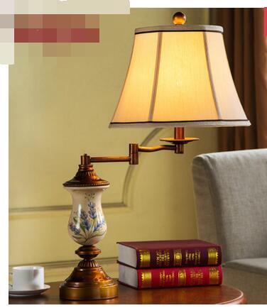 Гостиная настольная лампа. Кулисой брак кабинет железа лампы