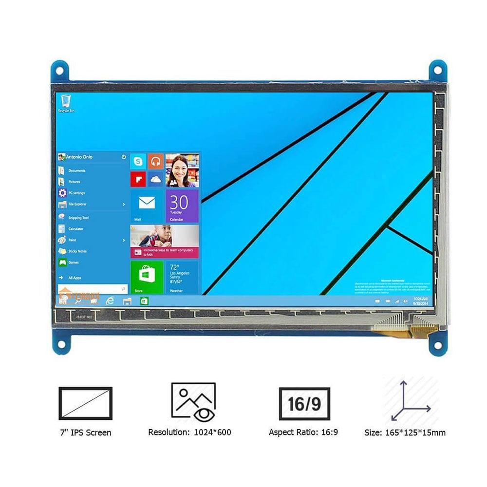 Raspberry Pi 3 affichage 7 pouces écran tactile HDMI HD LCD TFT 1024*600 (Pixel) moniteur pour Raspberry Pi 3 2B B Pcduino Win7 8 - 2