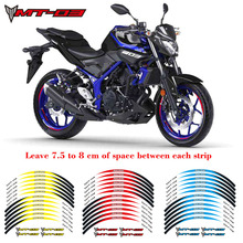 Hot sell Motorcycle 1set front&rear edge rim 17inch wheel decals Reflective stickers For YAMAHA MT-03 Sticke