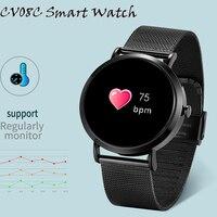 Timethinker CV08C Smart Watch Hombre Men Women Smartwatch Blood Pressure Heart Rate Monitor Whatsapp Facebook Fitness Tracker