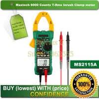 Mastech ms2115a 6000 conti vero rms digital clamp meter ac/dc voltage tester di corrente con misura di spunto e ncv