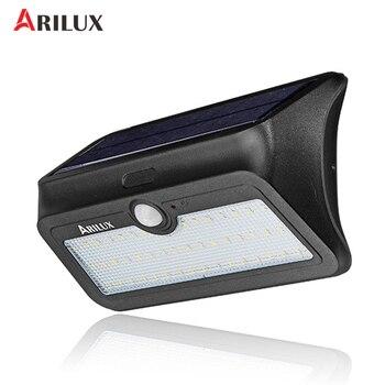 ARILUX AL-SL13 SMD 2835 46 المصابيح الطاقة الشمسية جدار ضوء البير محس حركة مصباح الحديقة للماء الأمن مصابيح خارجية