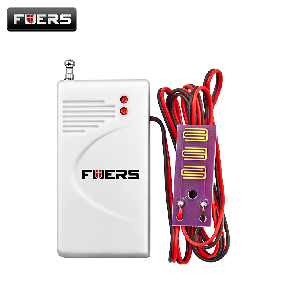 Fuers 433MHz Wireless Water Leakage Sensor Detector Water Intrusion Detector Home Security Alarm System Water Detection wireless water intrusion leakage sensor detector water leak alarm 433mhz for our home alarm system