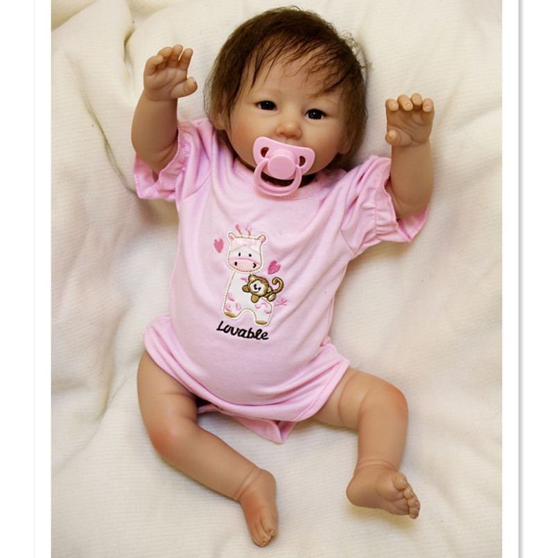 50CM/20 Inch Silicone Reborn Baby Dolls Newborn Toys for Children Birthday Gifts,Lifelike Reborn Babies Bonecas Educational Toys 20 real reborn babies bonecas newborn baby dolls with clothes lovely reborn silicone baby dolls educational toys for children