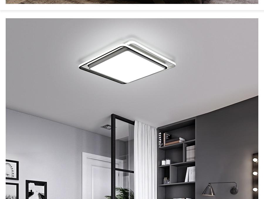 Modern black white design ceiling light smart home led lampshade