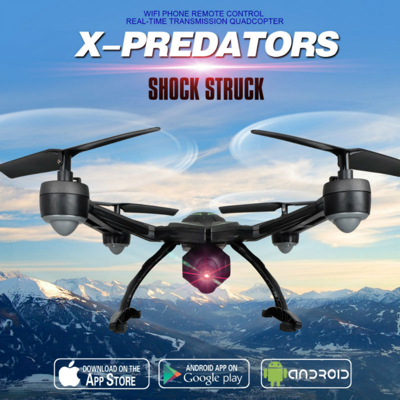 New arriva JXD510W RC drone 2.4G WIFI FPV HD camera RC quadcopter with brometer set High Hold Mode One Key Return VS U919a U818A 2016 newest 2 4g 4ch 6 axis gyro wifi fpv camera rtf rc quadcopter with one key return cf mode 3d flip high hold mode rc drone