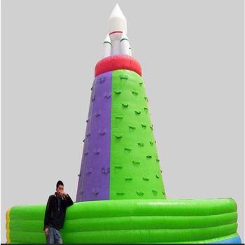 Gorąca sprzedaż giganta nadmuchiwana ściana wspinaczkowa z cena fabryczna tanie i dobre opinie XZ-CW-042 Dziecko Hot selling Giant inflatable climbing wall with factory price 0 5mmPVC L8m*W8m*H8m 110-220v Large Outdoor Inflatable Recreation