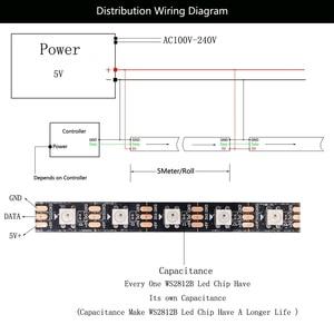 Image 5 - 1m 2m 3m 4m 5m WS2812B WS2812 Led Strip,Individually Addressable Smart RGB Led Strip,Black/White PCB Waterproof IP30/65/67 DC5V