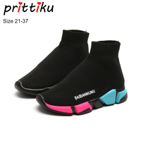 Autumn 2018 Boys Girls Fashion Sock Sneakers Children Knitted Slip On Trainers Baby/Toddler/Little/Big Kid Designer Brand Shoes