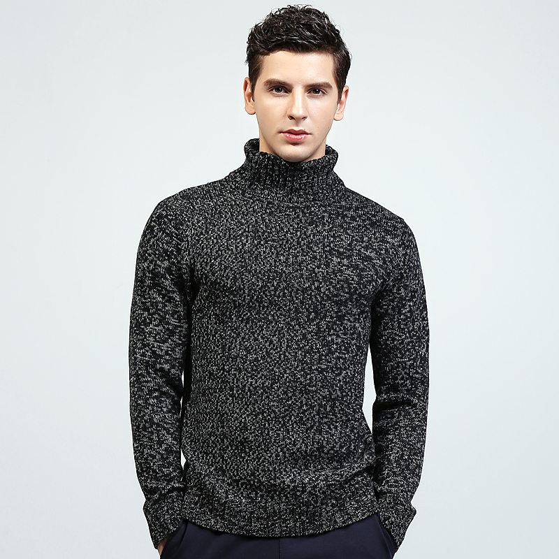 Men Cashmere Sweater and Pullover Autumn Winter Fashion Basic Turtlenck Slim Fit Cotton Brand Christmas Knitted Tops For Men