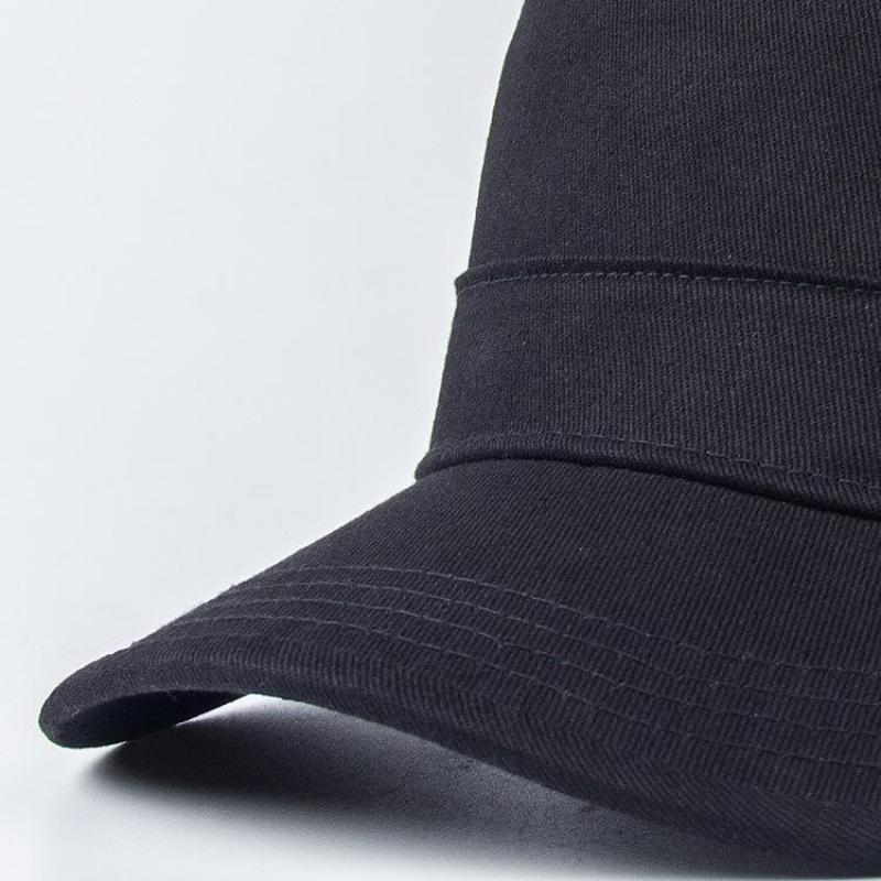 Military Cap Hats Cotton Solid Color Black Army Flat Cap Ladies Military Hats Adjustable Big Size Bone Male