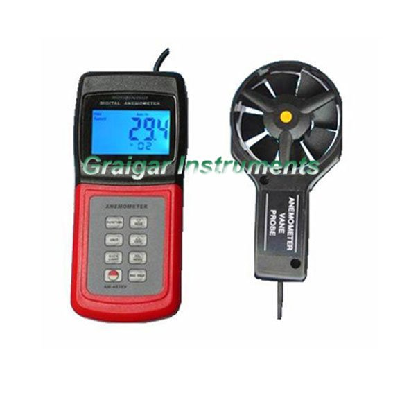 Wholesale AM-4836V Digital Anemometer with software and cable AM4836V am 4822 digital anemometer