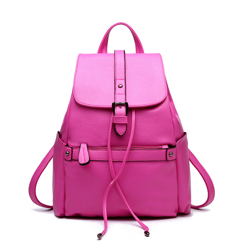 kawaii brand backpack women 2017 leather cute korean backpack mini small ladies backpacks black blue mochila de couro