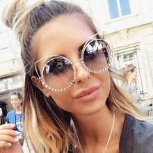 Fashion Sexy Diamond Decoration Cat Eye Sunglasses