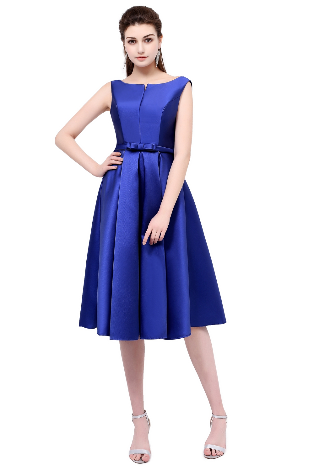 wholesale ssyfashion evening dress luxury satin a line plus size