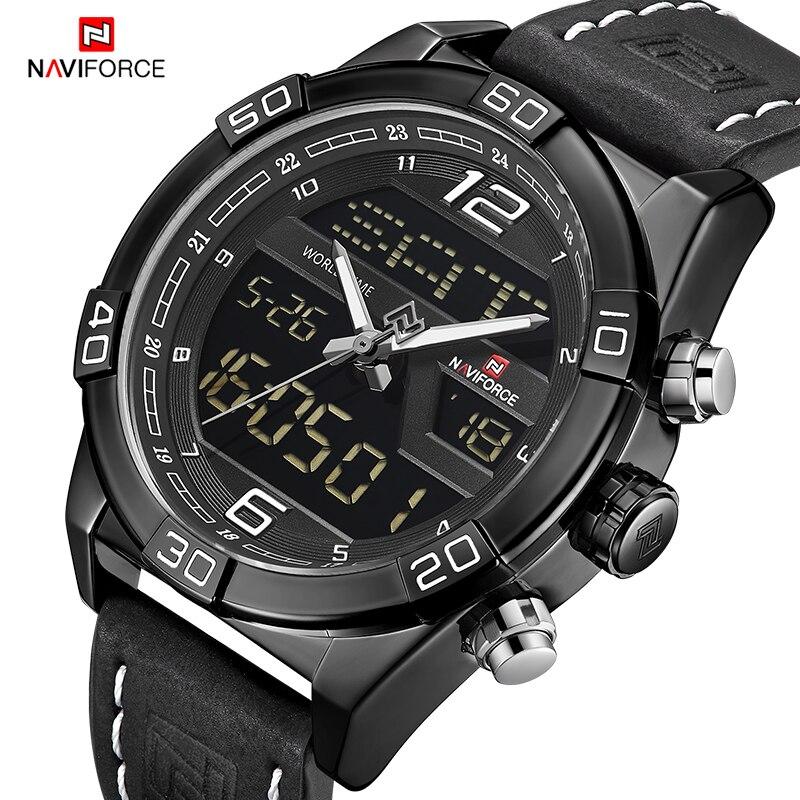 lowest price ) NAVIFORCE 2018 New Top Luxury Brand Men Military Sport Watches Waterproof Quartz Wrist Watch