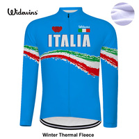 Fleece Thermal Long Jersey Winter cycling jersey italy national blue Pro team long sleeve bike bicycle wear clothing riding 8026