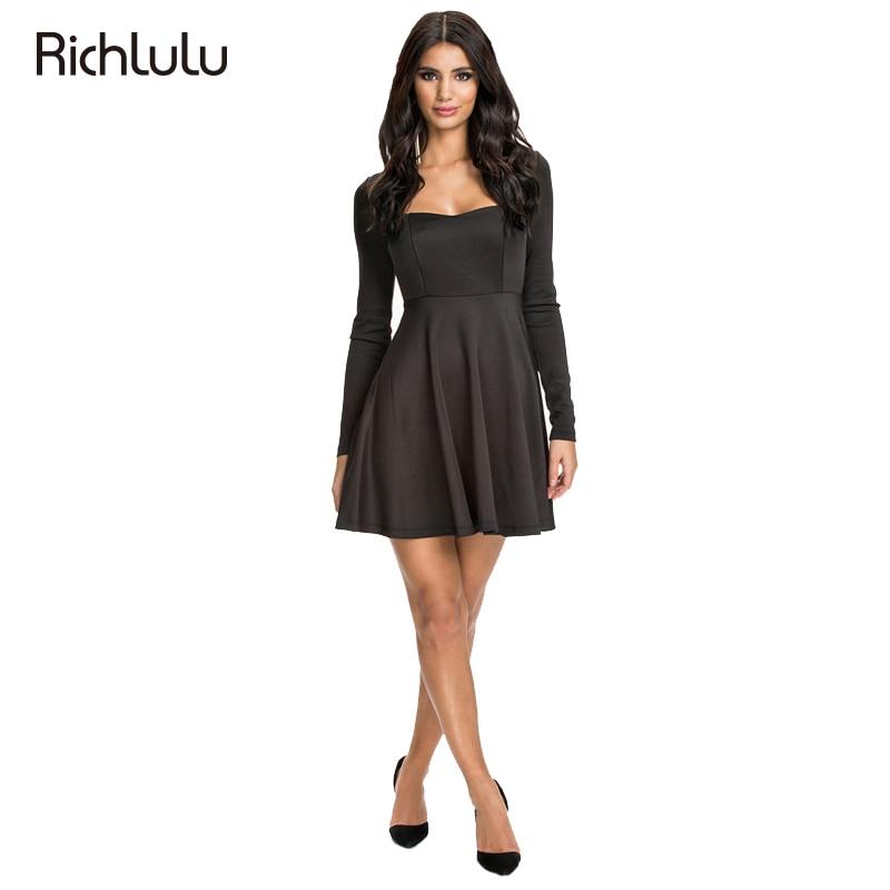 6ac1fb71db9 RichLuLu Apparel Sexy Chic Women Dress Vestidos Black Seam Cut Out Backless  Pullover Dress Casual Backless V Neck Mini Dress