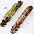 2 pçs/lote frete grátis estilo clássico Europeu 280mm antigo aberto montado grande de madeira maçaneta da porta puxar
