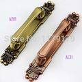 2 pcs/lot free shipping European classical style 280mm antique open mounted wooden big door handle pull
