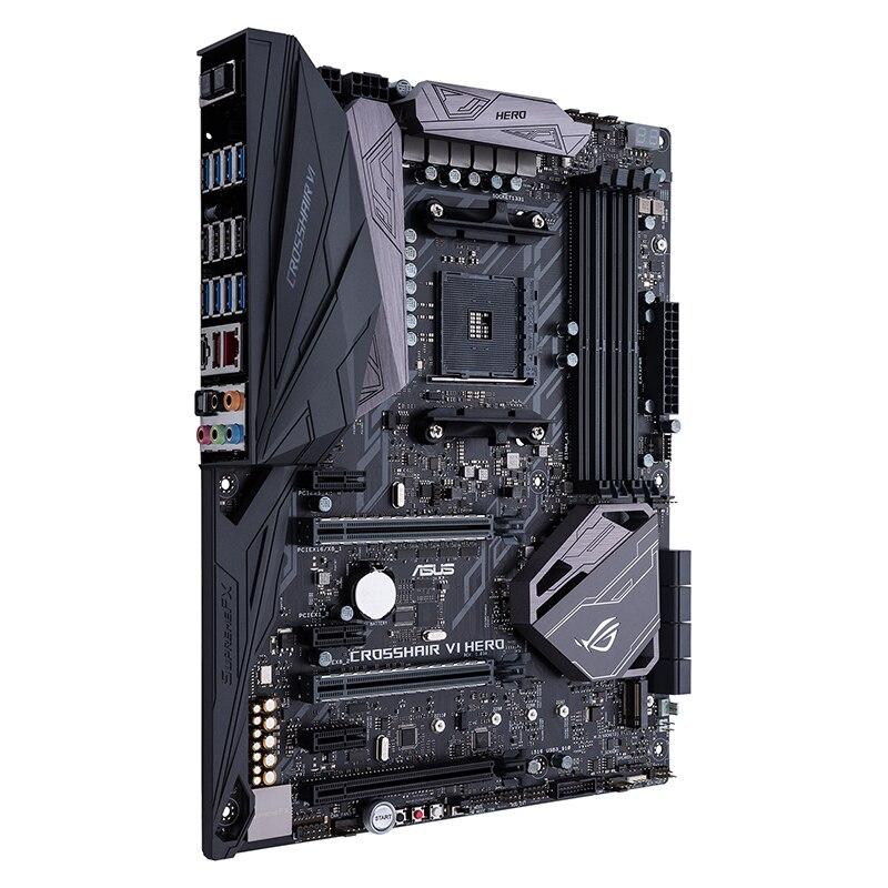 ASUS utilisé original CROSSHAIR VI HERO ordinateur de bureau plateau de jeu C6H AM4 carte mère ROG utilisé 90% nouveau