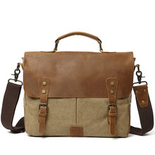 Портфель мужской из воловьей кожи Портативная сумка для ноутбука