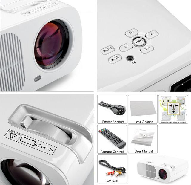 2015 Nuevo Cine En Casa 3000 lúmenes 800*600 TV HDMI USB LCD LED Proyector 3D FUll HD 1080 P Beamer Projetor proyector más barato