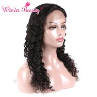 Wonder Beauty Wig Lace Frontal Human Hair Wig For Black Women Pre Plucked Malaysian Deep Wave