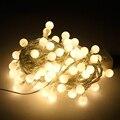 Colorido 5 M 50 bombillas Led Tira Luces Lamparas AA Batería Led Luz de la Secuencia Para la Navidad del Jardín Decoración de La Boda de Vacaciones luz