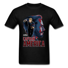 Falcon T Shirt Marvel Captain America T-Shirt Mens Superhero T Shirts For Men 100% Cotton American Agent Shield T-Shirt(China)