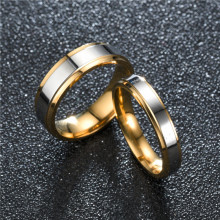 2019 Tready 6MM 4MM High-end double-step mirror gold couple Ring For Women Men Jewelry 5-13 US Size