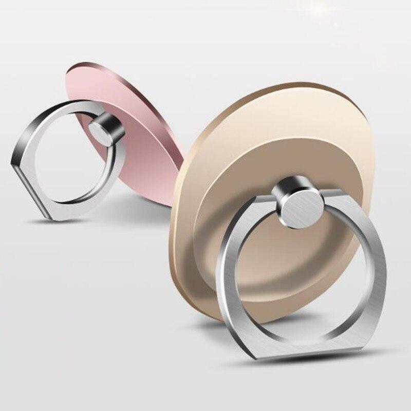 100 шт./лот розовое золото Универсальный мобильный телефон стенд 360 палец кольцо Настольная подставка держатель подходит для samsung S7 Роскошный…