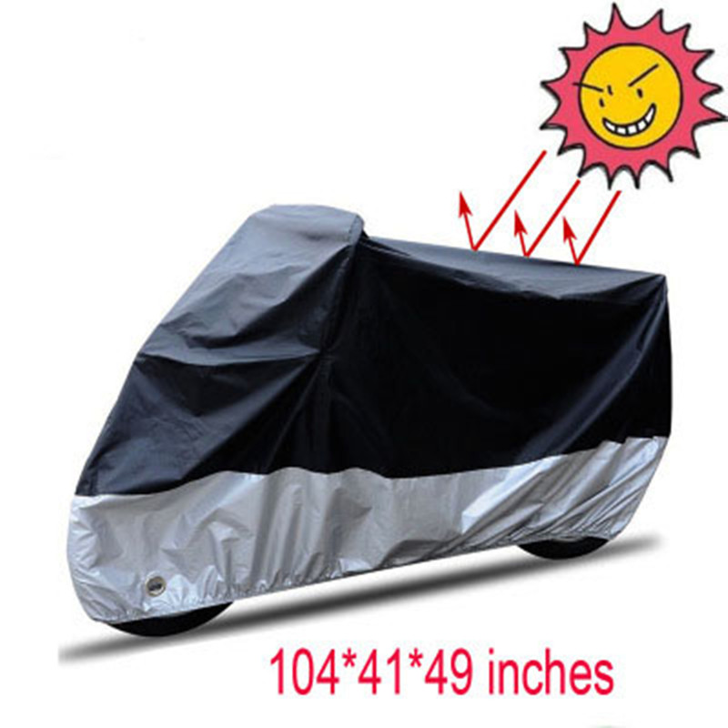 Polyester Waterproof Motorcycle Cover Outdoor Storage UV Resistant Protector Motorbike Motor Scooter Rain Cover