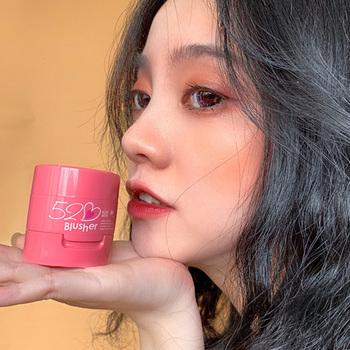 Makijaż paleta różu pomarańczowy brzoskwiniowy kolor wodoodporna poduszka powietrzna rumieniec krem tanie i dobre opinie Air cushion blush Chiny Długotrwała Łatwe do noszenia Naturalne W pełnym rozmiarze support 3 colors 1 pcs