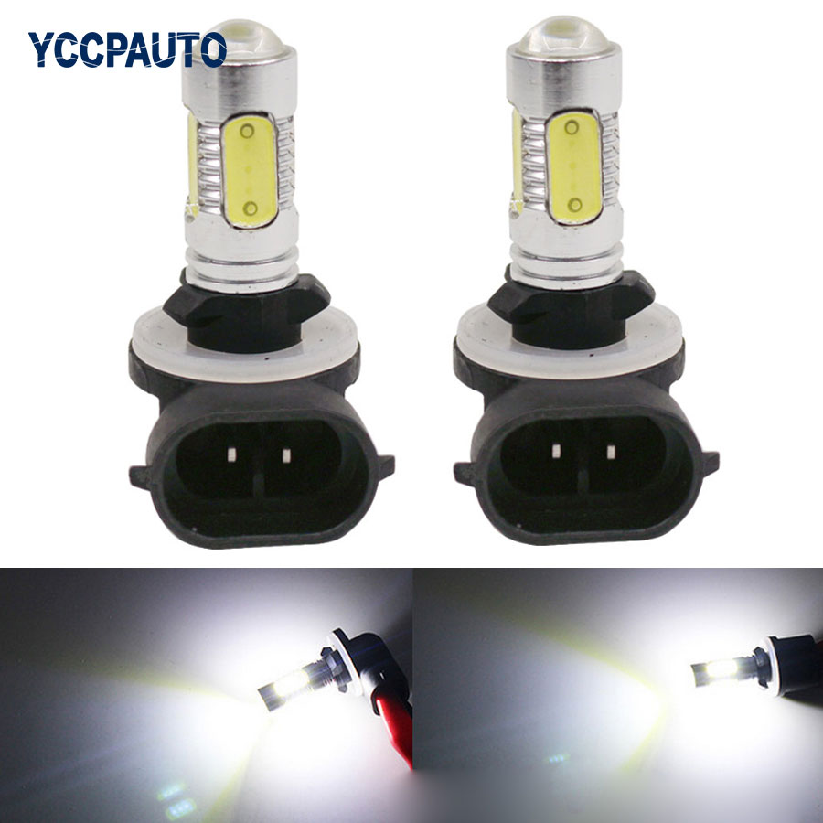 H27 881 880 Car Fog LED Lights DRL 7.5W White High Power Bulb External Lamp Car Day Driving Light Source 2PCS car styling lamps 2pcs xenon hid white 25w high power 5 xcree xp e chips 881 h27 pgj13 led fog light driving drl bulbs