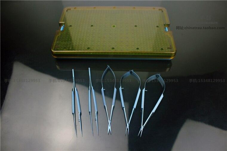 Medical orthopedic hand foot surgery instrument titanium alloy small Vascular suture Platform tweezer Microscissor needle holder