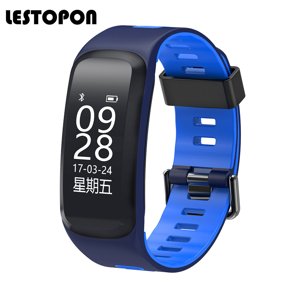 LESTOPON 2017 Waterproof Smart Band Swimming Wristband With Pedometer Heart Rate Fitness Tracker Bracelet For iphone
