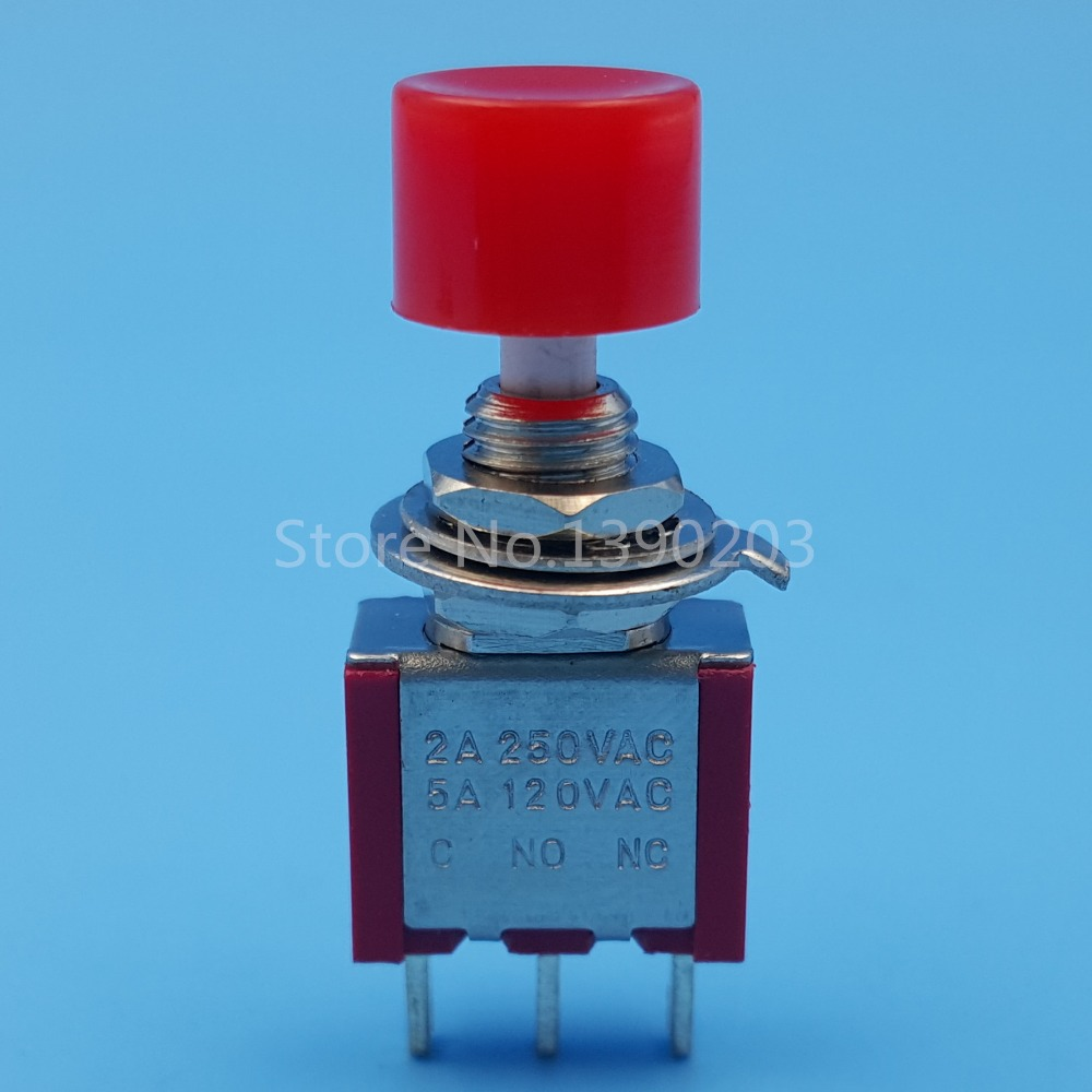 10pcs Red 3pin Momentary 6mm Mini Push Button Switch On Off Spst 2a Switches