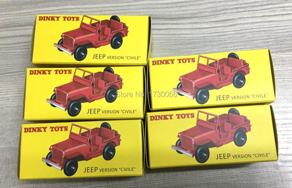 Wholesale 5 pcs A lot of Atlas DINKY Toys 1:43 24M JEEP VERSION CIVILE Alloy Diecast Car model & Toys Model for Collection 1 43 dinky toys 587 camion camionnette citroen tub hy h philips atlas alloy diecast car model