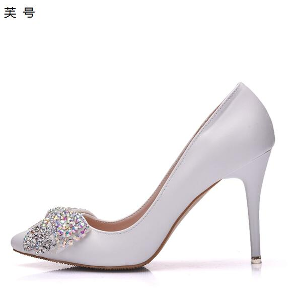 New Colorful Crystal Butterfly Knot Woman Wedding Pumps